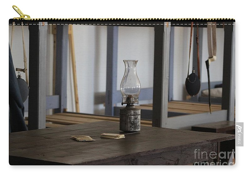 Card Game Carry-all Pouch featuring the photograph Cards on the Table Fort Stanton New Mexico by Colleen Cornelius