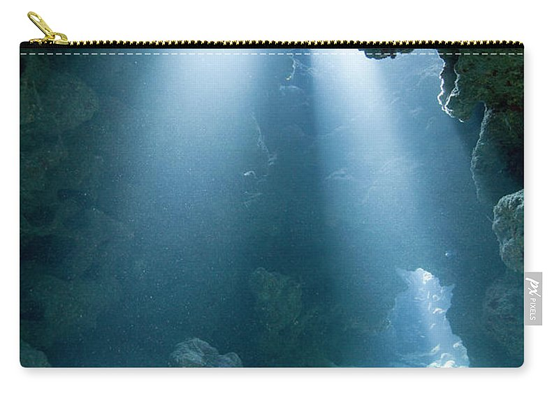 Underwater Carry-all Pouch featuring the photograph Caribbean Sea, Cayman Islands, Grand by Paul Souders