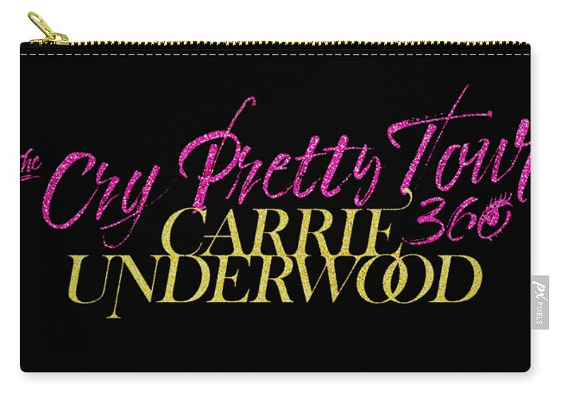 Carrie Underwood Cry Pretty 2019 Ajadcode11 Carry-all Pouch featuring the digital art Carrie Underwood Cry Pretty 2019 Ajadcode11 by Ajad Setiawan