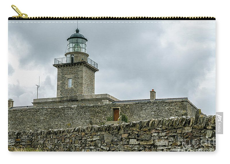 Barneville-carteret Carry-all Pouch featuring the photograph Carteret Lighthouse by DiFigiano Photography