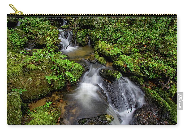 Lee Falls Carry-all Pouch featuring the photograph Cascades Of Lee Falls by Robert J Wagner