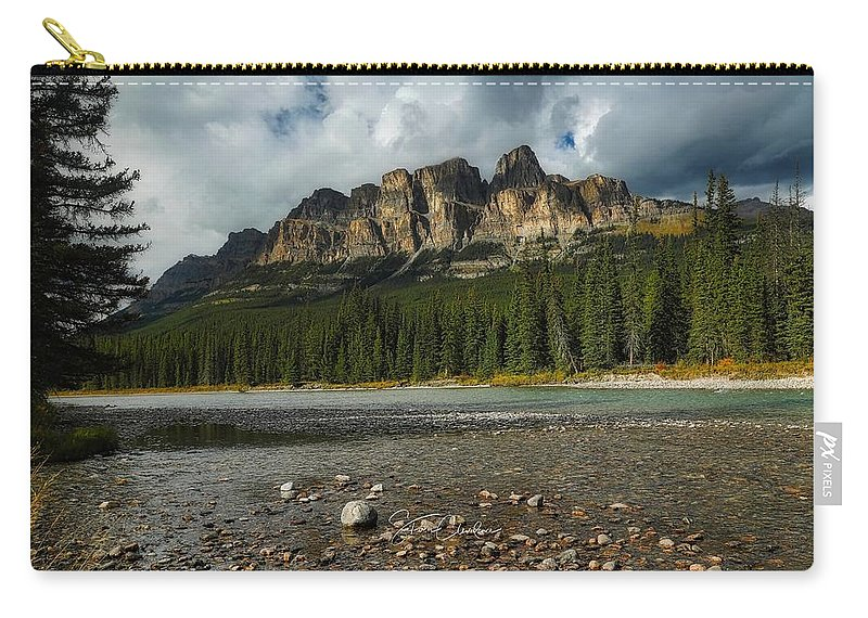 Banff National Park Carry-all Pouch featuring the photograph Castle Mountain by Steven Clevidence