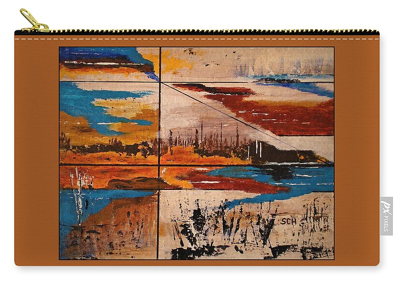 Abstract Carry-all Pouch featuring the painting Catch A Ride To The End Of The Highway by Scott Haley