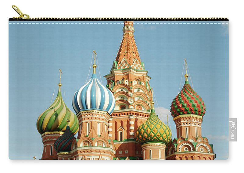 Statue Carry-all Pouch featuring the photograph Cathedral Of Saint Basil The Blessed In by Travelif