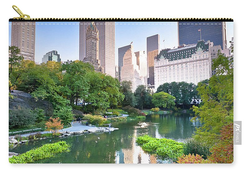 Downtown District Carry-all Pouch featuring the photograph Central Park In New York City by Pawel.gaul