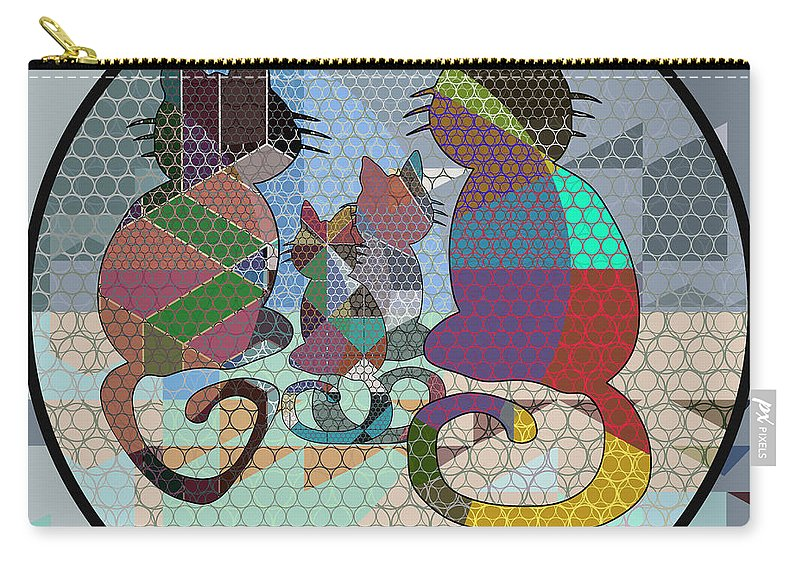 Animals Carry-all Pouch featuring the digital art Cfm13656 by Celito Medeiros