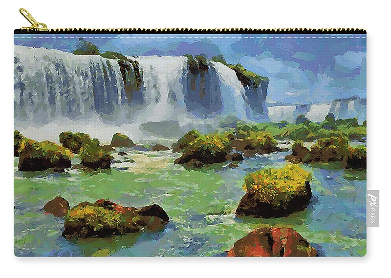 Landscape Carry-all Pouch featuring the painting Cfm13889 by Celito Medeiros