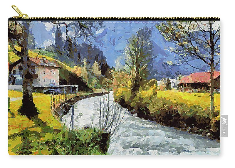 Landscape Carry-all Pouch featuring the painting Cfm13891 by Celito Medeiros