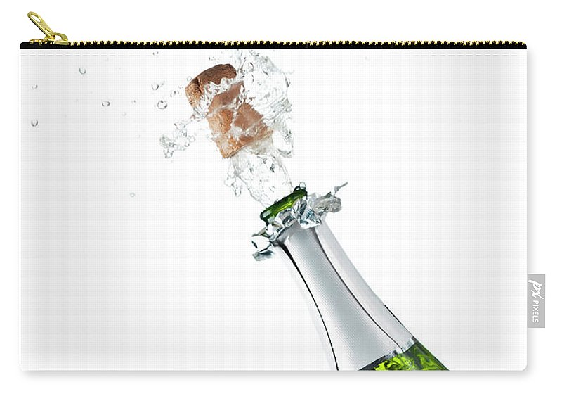 Releasing Carry-all Pouch featuring the photograph Champagne Bottle by Mphillips007