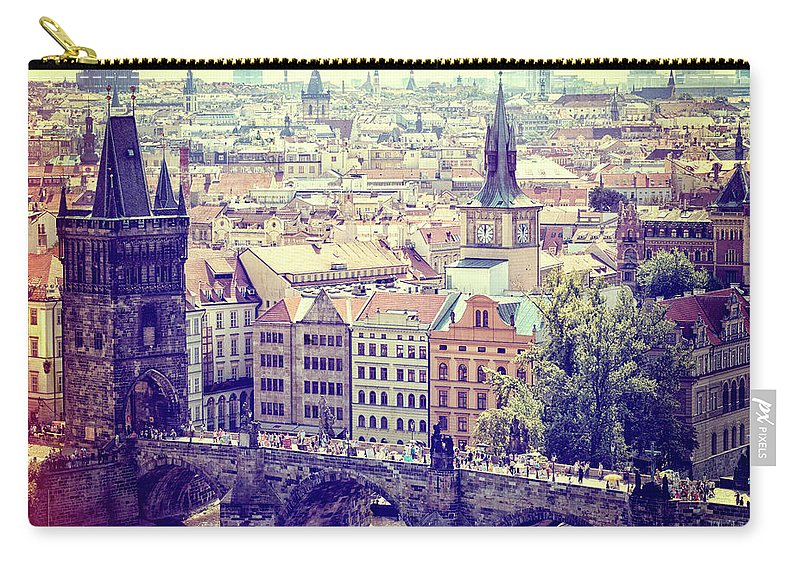 Panoramic Carry-all Pouch featuring the photograph Charles Bridge, Prague by Pawel.gaul