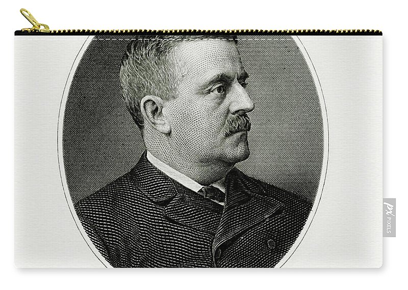 New York Businessman Carry-all Pouch featuring the painting Charles S. Fairchild by The Bureau of Engraving and Printing