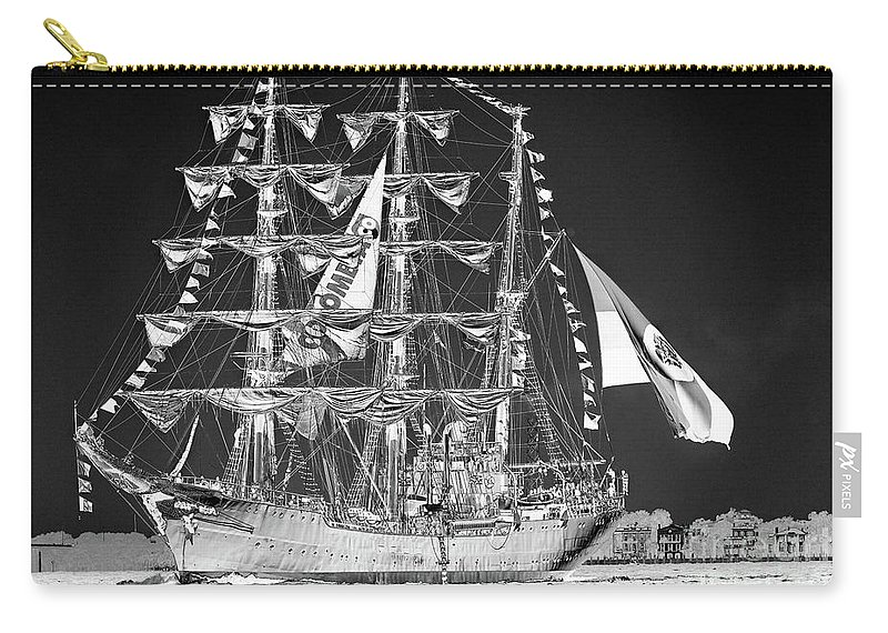 Ghost Ship Carry-all Pouch featuring the photograph Charleston Ghost Ship by Dale Powell