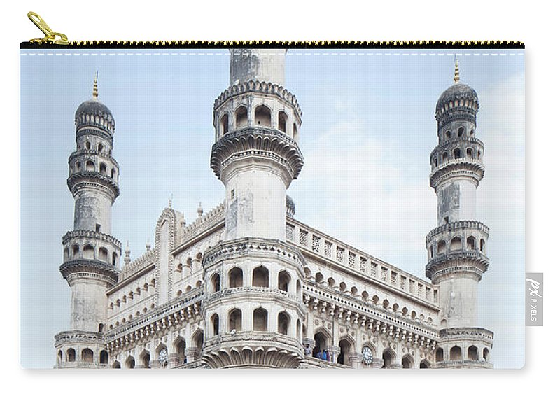 Arch Carry-all Pouch featuring the photograph Charminar Monument In Hyderabad by Jasper James