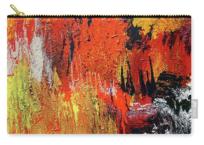 Fusionart Carry-all Pouch featuring the painting Chasm by Ralph White