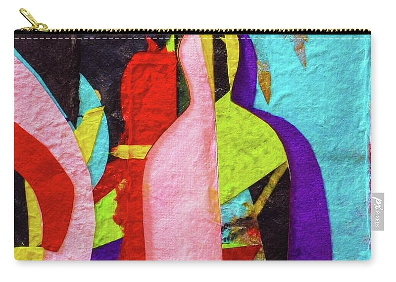 Buddha Carry-all Pouch featuring the mixed media Chiang Mai Buddha Collage 16 by Stephen Humphries