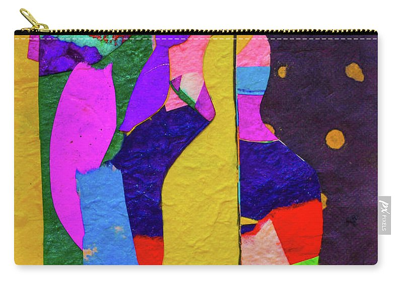 Buddha Carry-all Pouch featuring the mixed media Chiang Mai Buddha Collage 3 by Stephen Humphries