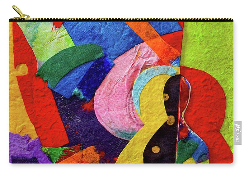 Buddha Carry-all Pouch featuring the mixed media Chiang Mai Buddha Collage 7 by Stephen Humphries