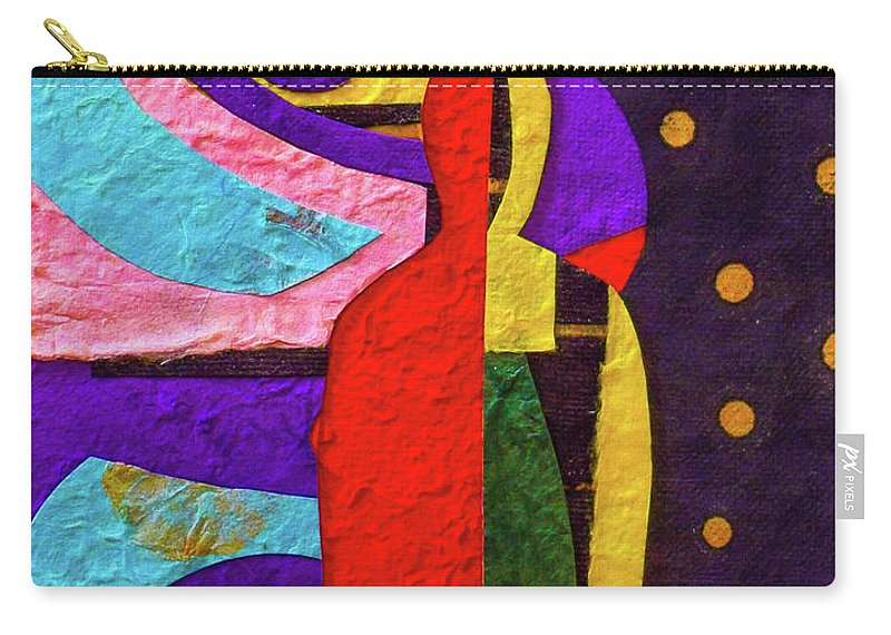 Buddha Carry-all Pouch featuring the mixed media Chiang Mai Collage 12 by Stephen Humphries