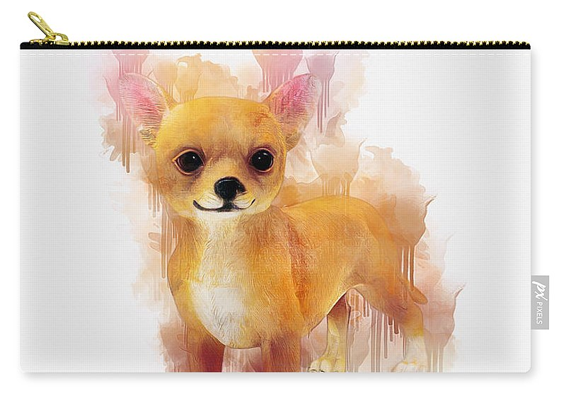 Chihuahua Carry-all Pouch featuring the digital art Chihuahua Art by Ian Mitchell