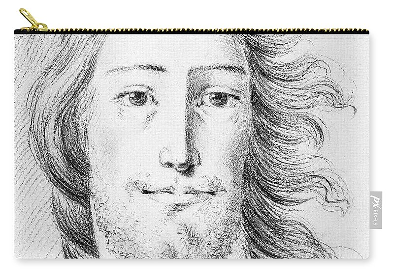 Sketch Carry-all Pouch featuring the painting Christ Sketch By Jean Bernard 1775-1883 by Celestial Images