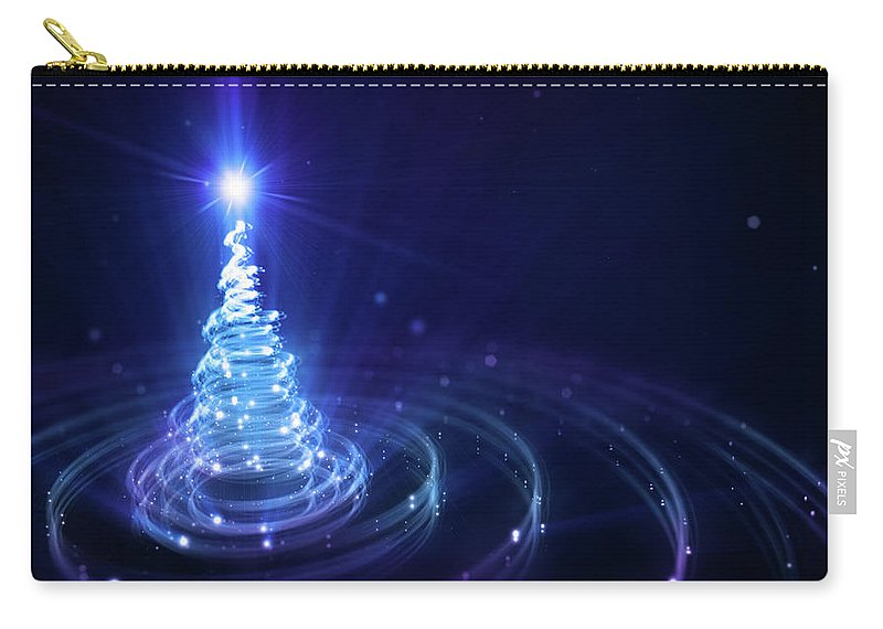 Particle Carry-all Pouch featuring the digital art Christmas Background by Da-kuk