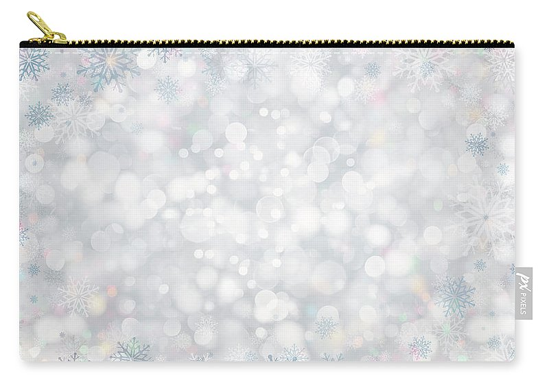 Holiday Carry-all Pouch featuring the photograph Christmas Background by Sbayram