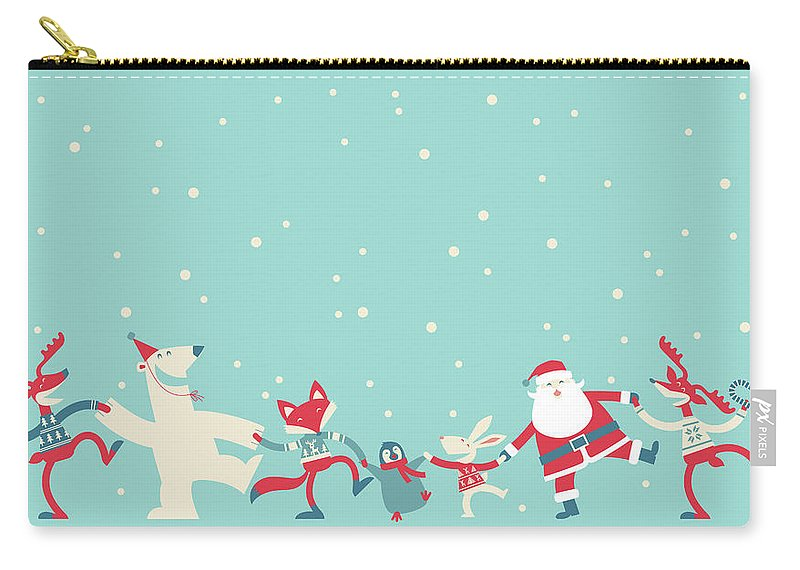 Holiday Carry-all Pouch featuring the photograph Christmas Dancing by Akindo
