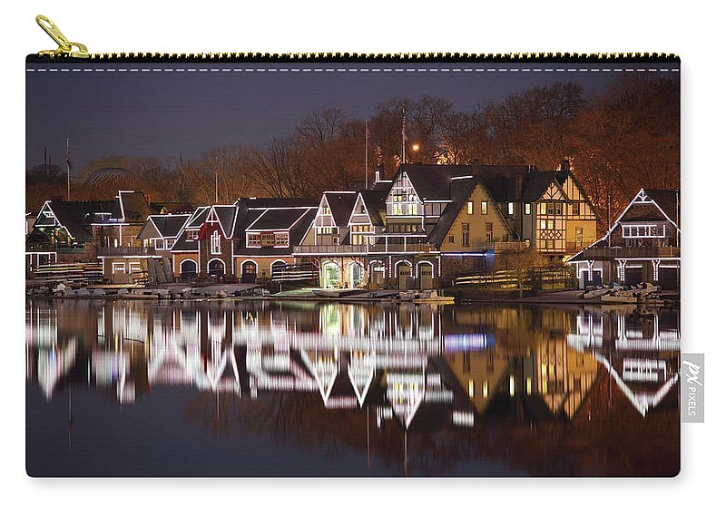 Holiday Carry-all Pouch featuring the photograph Christmas Lights by Denistangneyjr