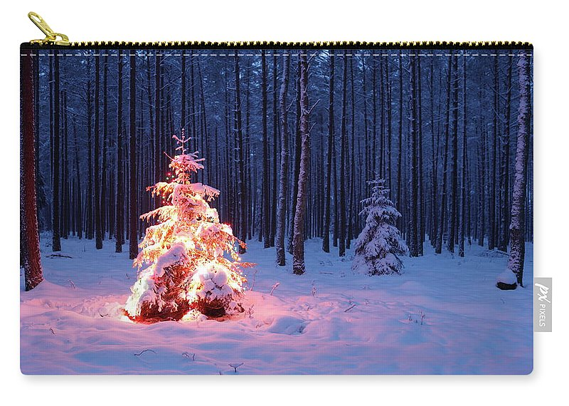 Holiday Carry-all Pouch featuring the photograph Christmas Tree by Dariuszpa