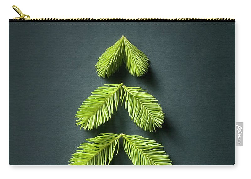 Needle Carry-all Pouch featuring the photograph Christmas Tree by Malerapaso