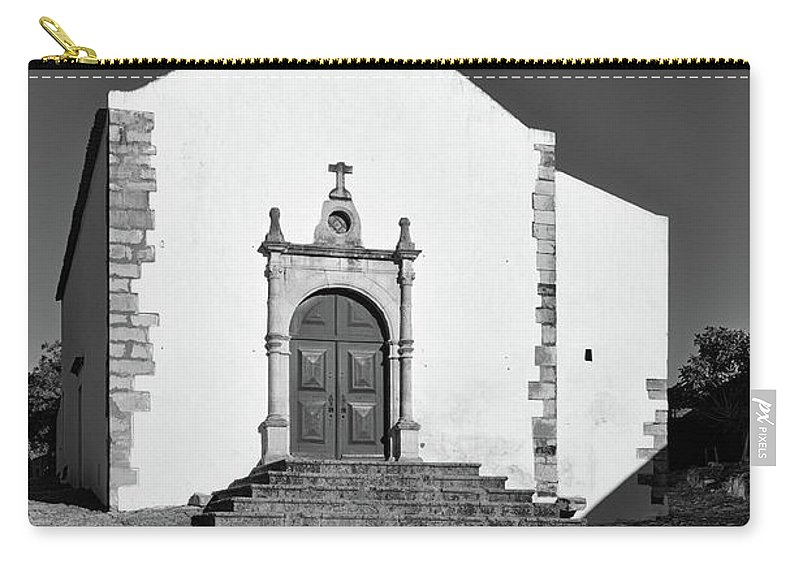 Castro Marim Carry-all Pouch featuring the photograph Church Of Misericordia In Monochrome by Angelo DeVal