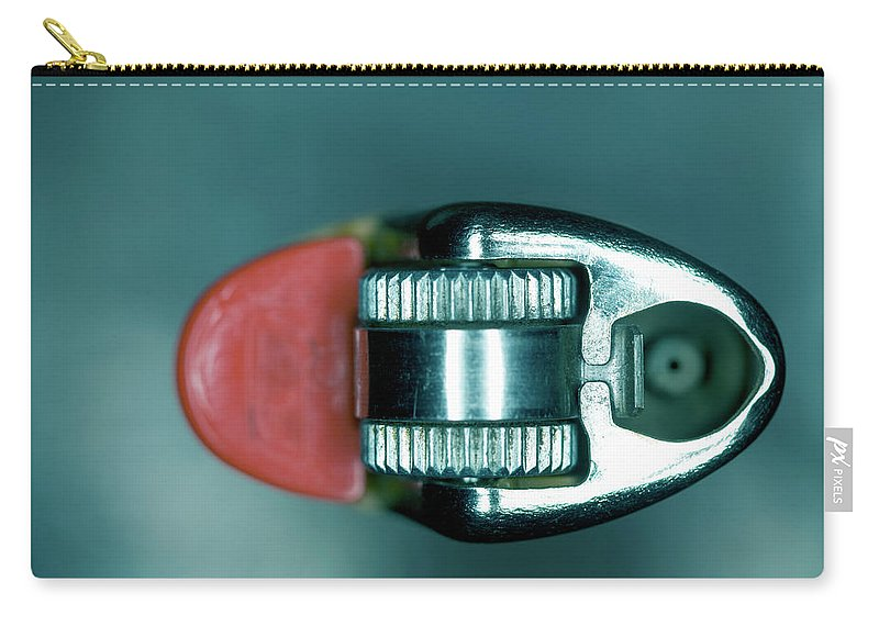 Cigarette Lighter Carry-all Pouch featuring the photograph Cigarette Lighter, Close-up by Michael Duva