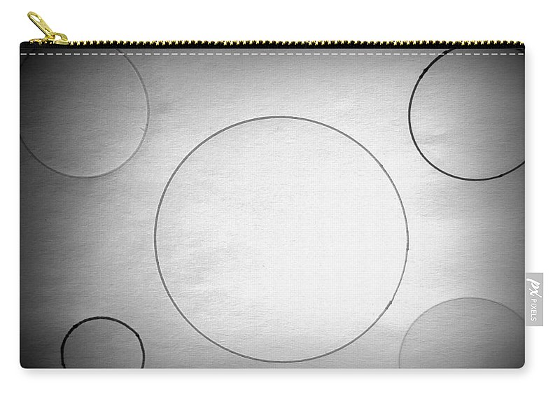 Drawing Carry-all Pouch featuring the drawing Circle In The Light-1 by Erma L George