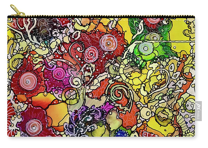 Abstract Carry-all Pouch featuring the painting Circles2 by Rae Chichilnitsky