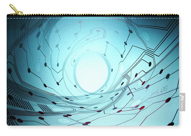 Electrical Component Carry-all Pouch featuring the photograph Circuit Board by Newbird