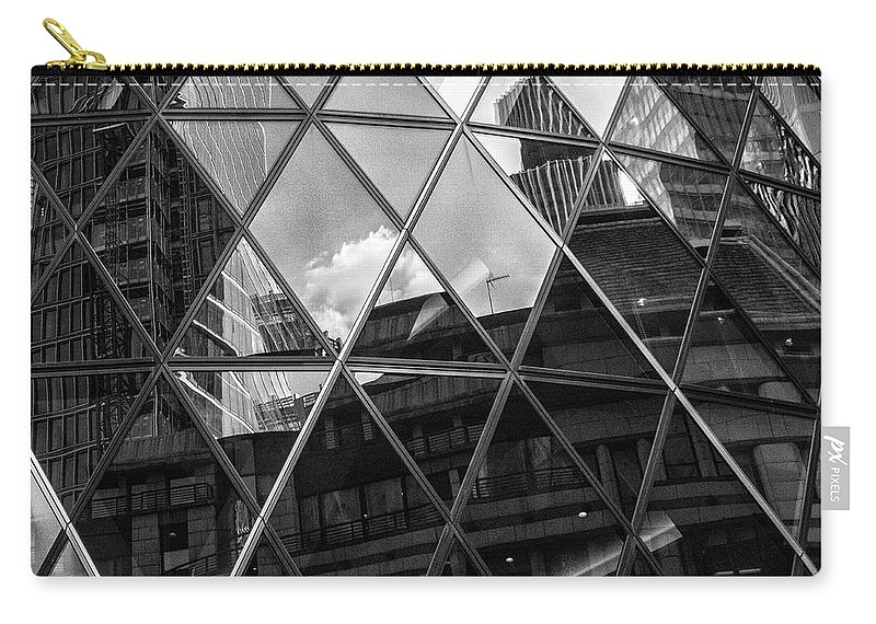 Architecture Carry-all Pouch featuring the photograph City Reflections by Martin Newman