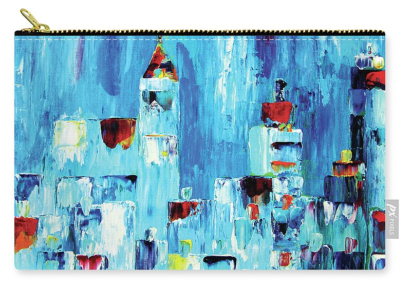 Abstract Carry-all Pouch featuring the painting Within the City by JoAnn DePolo