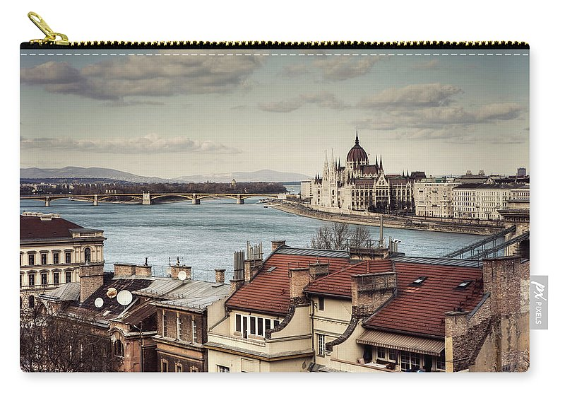 Tranquility Carry-all Pouch featuring the photograph Cityscape Of Budapest by By Matthew Heptinstall