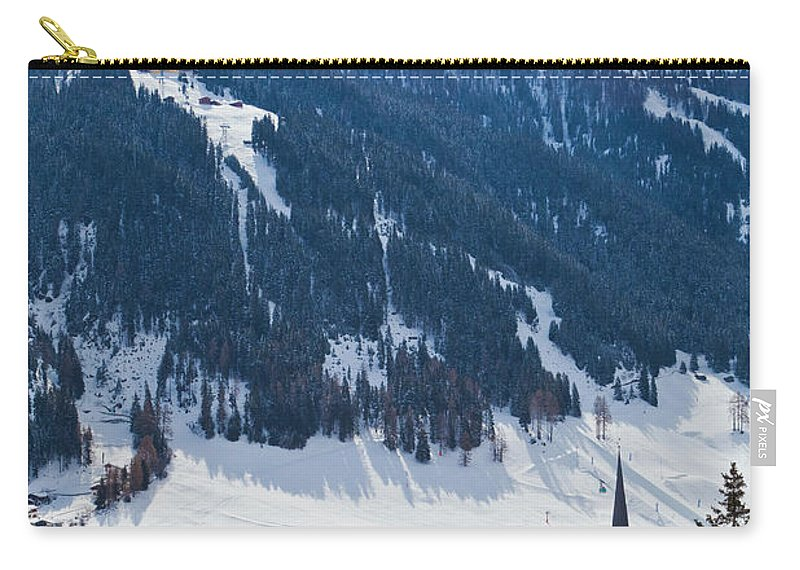 Snow Carry-all Pouch featuring the photograph Cityscape Of Davos, Grisons, Switzerland by Werner Dieterich