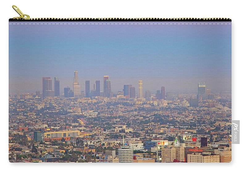 California Carry-all Pouch featuring the photograph Cityscape Of Los Angeles by Eric Lo