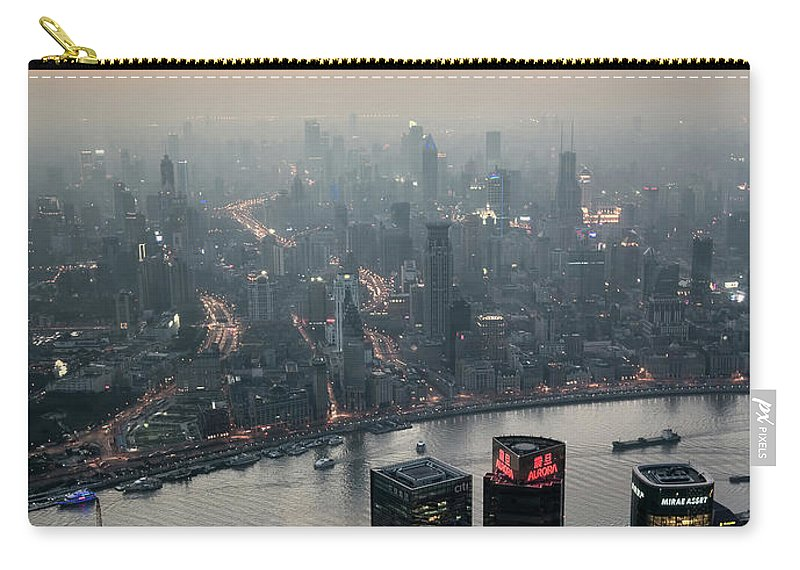 The Bund Carry-all Pouch featuring the photograph Cityscape Puxi Shanghai by Andy Brandl