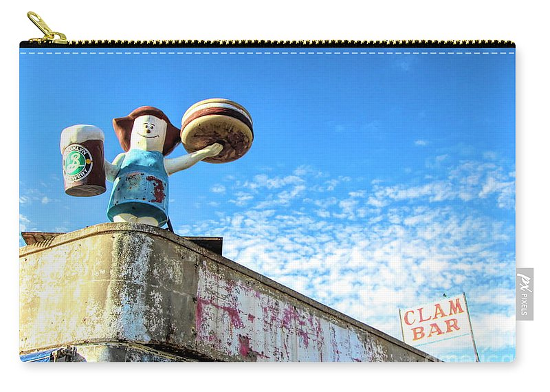 Ny Carry-all Pouch featuring the photograph Clam Bar Theme Park Coney Island by Chuck Kuhn
