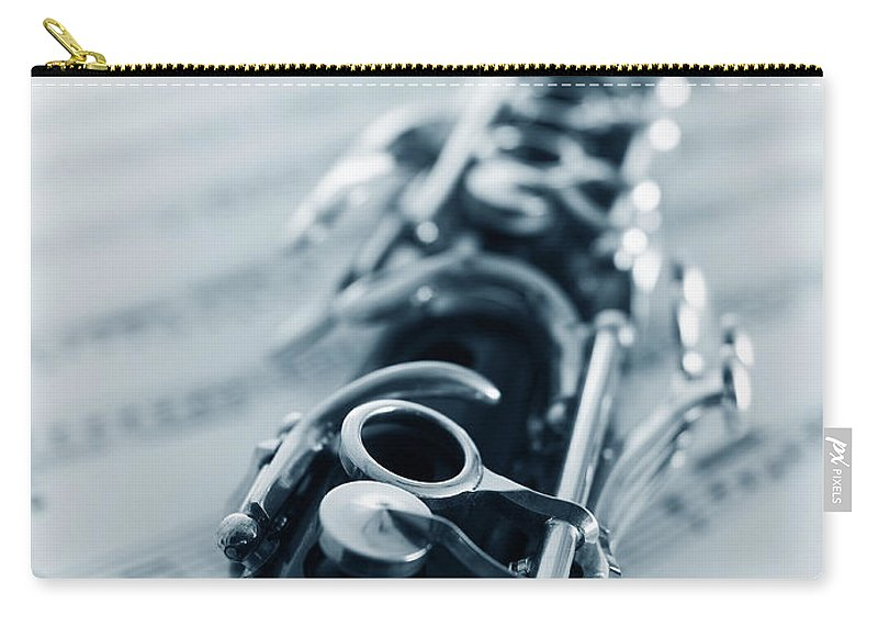 Clarinet Carry-all Pouch featuring the photograph Clarinet by Adam Gault