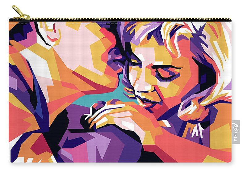 Clark Carry-all Pouch featuring the digital art Clark Gable and Marilyn Monroe by Stars on Art