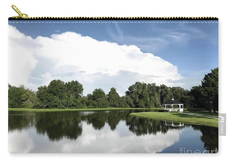 Cloud Front Carry-all Pouch featuring the photograph Clear Reflection by Beth Williams