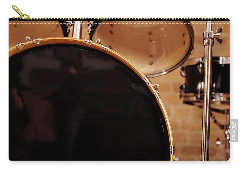 Microphone Stand Carry-all Pouch featuring the photograph Close-up Of A Drum Kit by Digital Vision.
