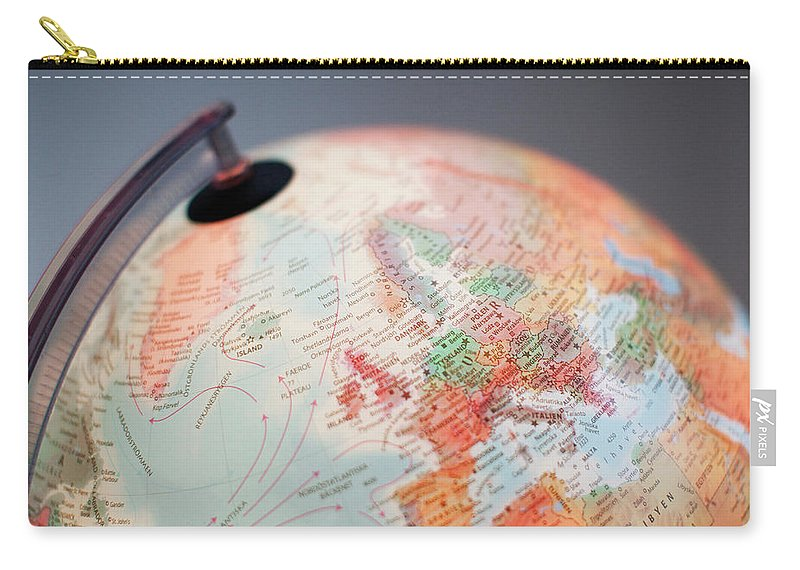 Globe Carry-all Pouch featuring the photograph Close-up Of Globe by Kindler, Andreas
