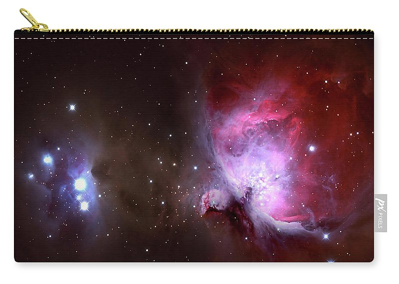 Natural Gas Carry-all Pouch featuring the photograph Closeup Of The Great Orion Nebula by Manfred konrad