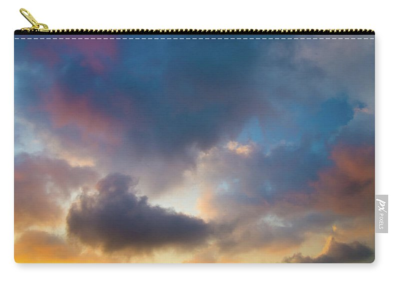 Clouds Carry-all Pouch featuring the photograph Clouds Spotted With Color by Christopher Johnson