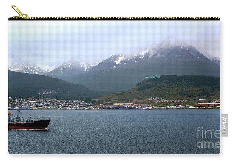 Cloudy Morning In Ushuaia Carry-all Pouch featuring the photograph Cloudy Morning In Ushuaia, Argentina by Yefim Bam